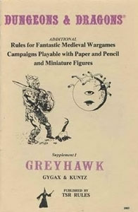 Dungeons and Dragons book cover featuring a character wielding a sword in the direction of a floating spherical character with a single eyeball int he centre