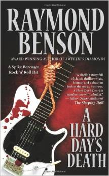 Paperback cover of A Hard Day's Death by Raymond Benson.jpg
