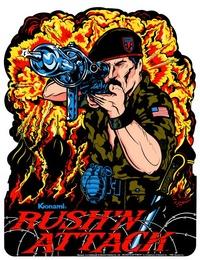 <i>Rushn Attack</i> 1985 arcade game