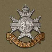 Sherwood Foresters infantry regiment of the British Army