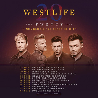 The Twenty Tour Thirteenth concert tour by Irish pop vocal group, Westlife