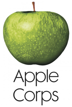 Logotipo de Apple Corps que fabricó el Reloj de pulsera The Beatles 1988.
