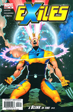 The cover to Exiles #45 depicting Mimic.