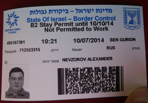 Image result for permit for israel