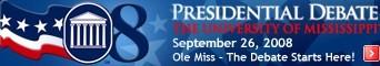 Logo of the 08 Presidential Debate University of Mississippi.jpg