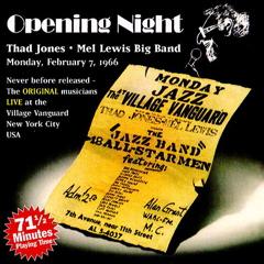 <i>Opening Night</i> (album) 2000 live album by Thad Jones/Mel Lewis Jazz Orchestra