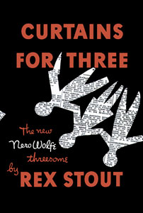 <i>Curtains for Three</i> book by Rex Stout