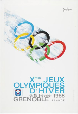 The official poster of the 1968 Winter Olympics
