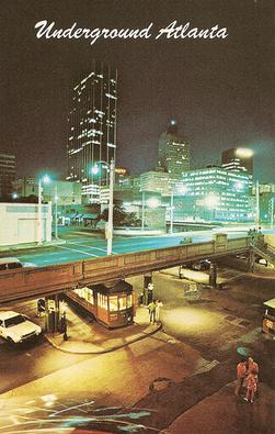 Skull Mountain, Underground Atlanta Underground_ATL_Postcard_2
