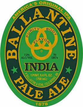 Ballantine IPA's new logo, relaunched August 2014.