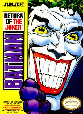 Official poster of the Batman: Return of the Joker game launched in 1991.