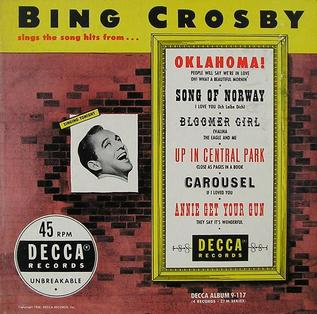 <i>Bing Crosby Sings the Song Hits from Broadway Shows</i> 1948 compilation album by Bing Crosby, Trudy Erwin