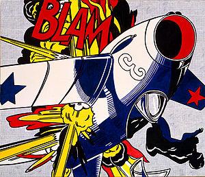 <i>Blam</i> (Roy Lichtenstein) painting by Roy Lichtenstein