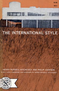 Cover of The International Style (1932, reprinted 1996) by Henry-Russell Hitchcock and Philip Johnson