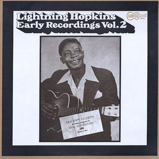 <i>Early Recordings Vol. 2</i> 1971 studio album by Lightnin Hopkins