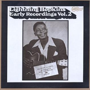 <i>Early Recordings Vol. 2</i> 1971 studio album by Lightnin Hopkins