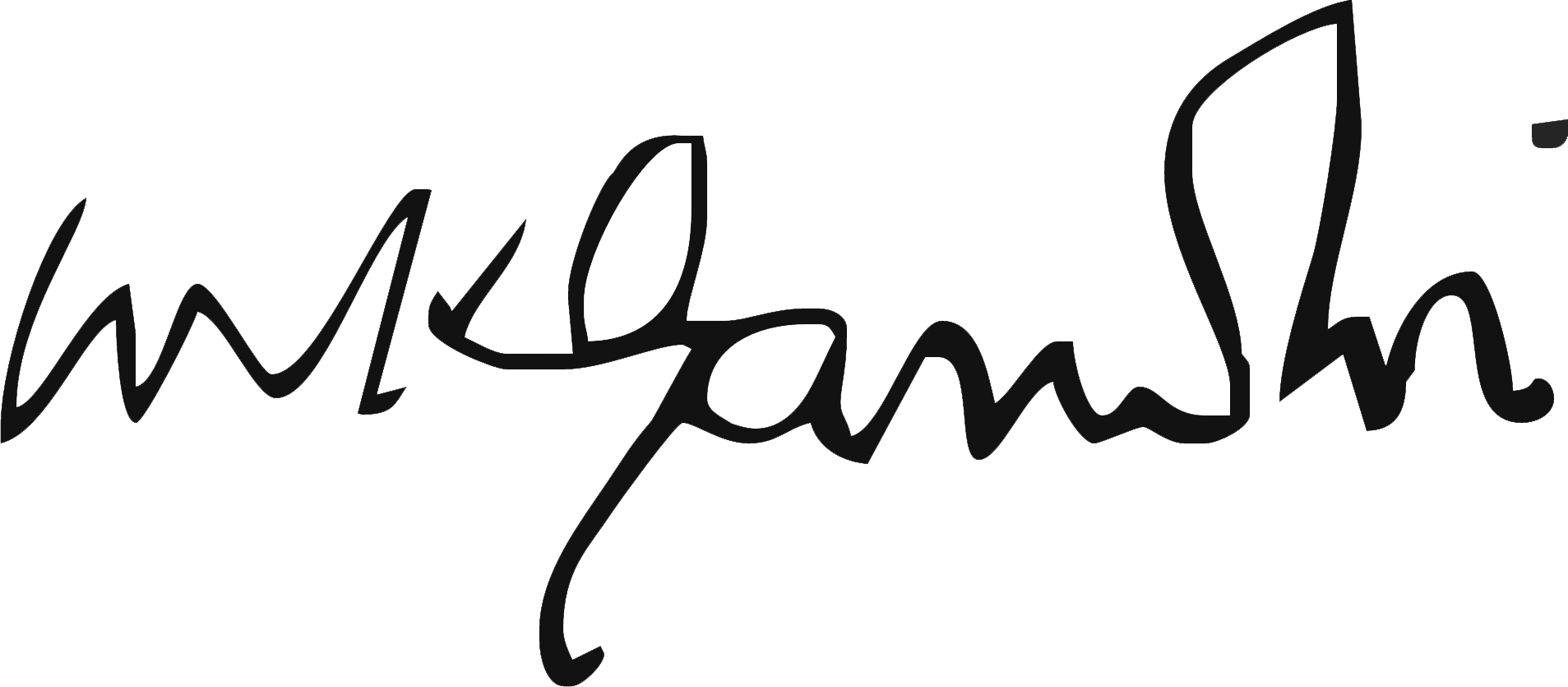 Gandi Picture English file:gandi signature - wikipedia