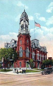Historical image of Melrose City Hall, located in Downtown Melrose.
