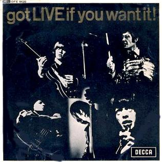 <i>Got Live If You Want It!</i> (EP) 1965 EP /live album by The Rolling Stones