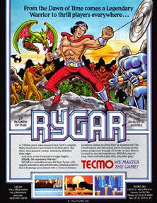 Rygar arcade game flyer.png
