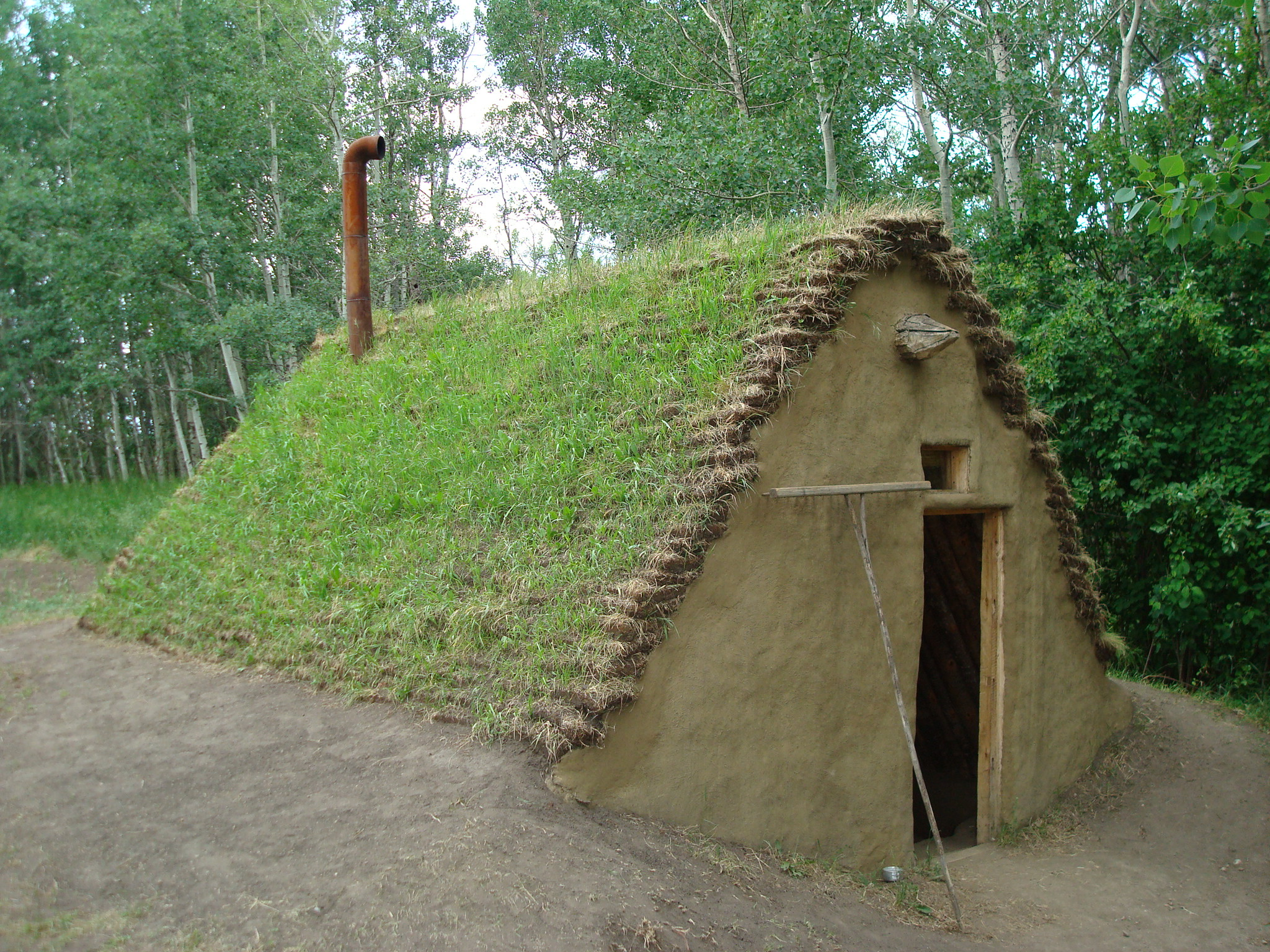 file sod house at ukrainian cultural heritage village
