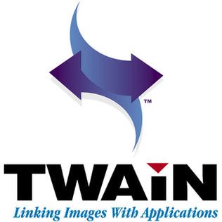 TWAIN standard used in image scanning