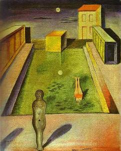 <i>Aquis Submersus</i> painting by Max Ernst