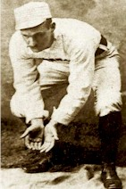 Bid McPhee playing second base without a glove