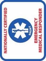 National Registry of Emergency Medical Technicians (NREMT) - Emergency Medical Responder (EMR) Patch