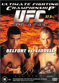 A poster or logo for UFC 37.5: As Real As It Gets.