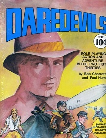 <i>Daredevils</i> (role-playing game) Pulp genre tabletop role-playing game