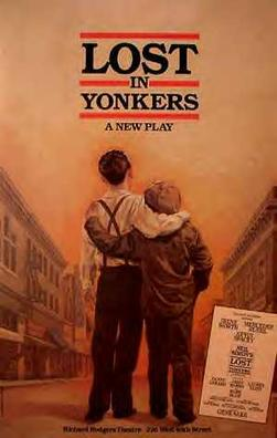 "original Broadway poster for ""Lost in Yonkers"""