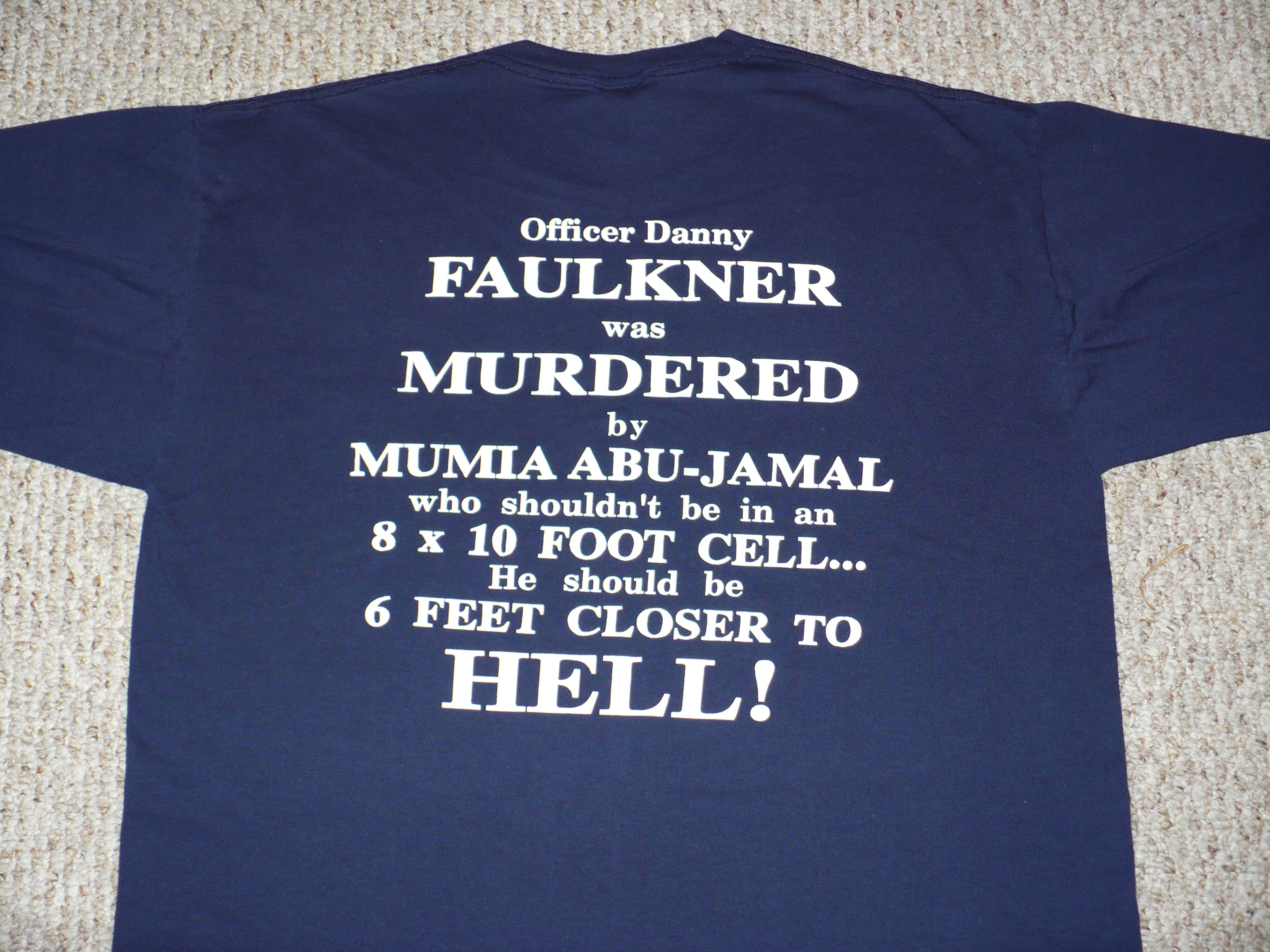 adf4750b9cc Anti-Abu-Jamal T-shirt sold in Philadelphia