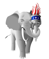 The logo of the Republican Liberty Caucus