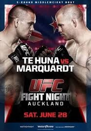 A poster or logo for UFC Fight Night: Te Huna vs. Marquardt.