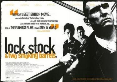 "Promotional poster of the movie, ""Lock, Stock and Two Smoking Barrels"""