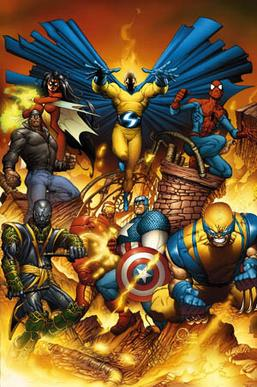 variant cover art for new avengers 1 feb 2005 by joe quesada and richard isanove