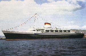 SS <i>Andrea Doria</i> Genoa registered passenger liner of the Italian line sunk after a collision off Massachusetts