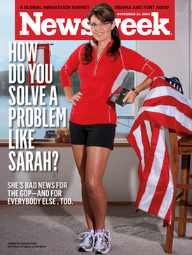 Controversial Newsweek cover, November 23, 2009, issue 20091123 Newsweek Palin Cover.png