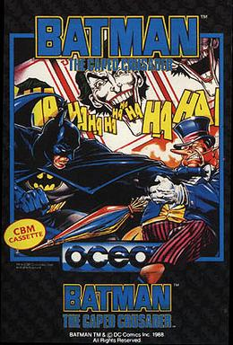 Official poster of the Batman: The Caped Crusader game launched in 1988.