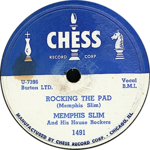 The Chess Records logo, as featured on a Memphis Slim single