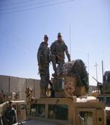 Curry was the 37th IBCT Commander & Durkac was the 1-125th IN BN Commander, photo taken in Ar Ramadi, Iraq 2008