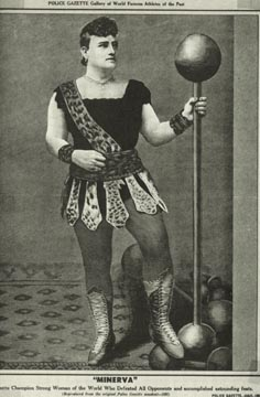 Josie Wahlford, wrestling as Minerva