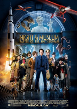Night at the Museum: Battle of the Smithsonian (2009) [English] SL DM - Ben Stiller, Amy Adams, Owen Wilson, Hank Azaria, Christopher Guest and Alain Chabat