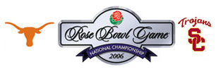 2006 Rose Bowl annual NCAA football game