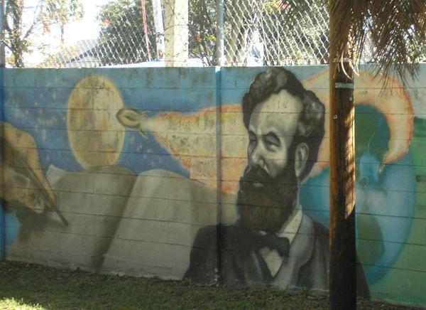 Jules Verne mural