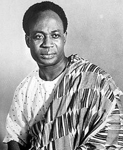 The First President of Ghana, Kwame Nkrumah, t...