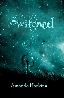 Switched book cover, authored by Amanda Hocking