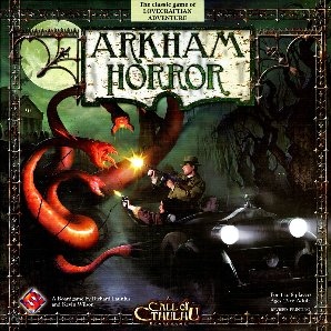 Box cover for the revised (2007) edition of Arkham Horror (Source: Wikipedia)
