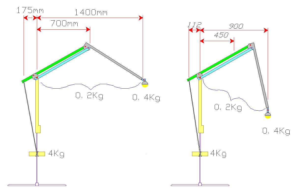 File Bending Pantographic Parallel Balance Arm A Light